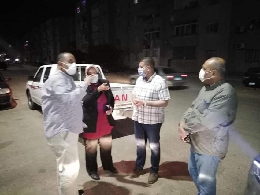 تطبيق وتكثيف الاجراءات الاحترازية لمواجهة فيروس كورونا بشوارع السويس