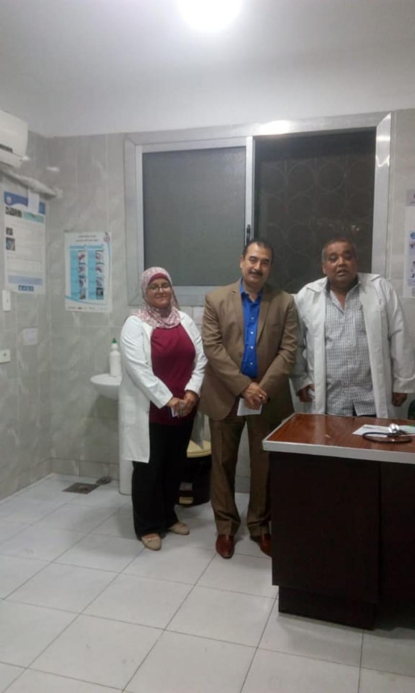 وكيل وزارة الصحة بالسويس يقوم بمرور مسائى مفاجئ على مستشفى الصدر والحميات