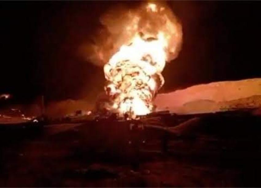 """استمرار حريق """"أم عسل"""" براس سدر ومشاركة شركات السويس فى عملية الاطفاء"""