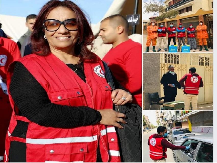الهلال الأحمر بالسويس ينفذ حملات تعقيم وتطهير لمكافحة كورونا