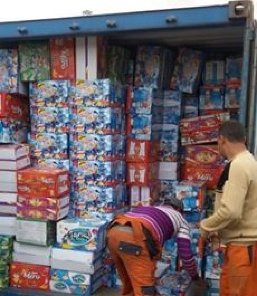 """شرطة مواني السويس تضبط """" 234 كرتونة أدوية محظور تصديرها اثناء تهريبها بميناء السخنة"""