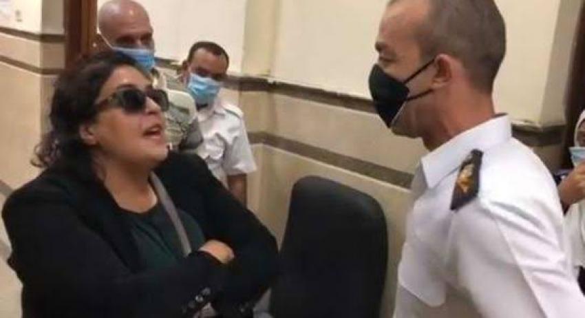براءة سيدة المحكمة من التعدي على ضابط شرطة