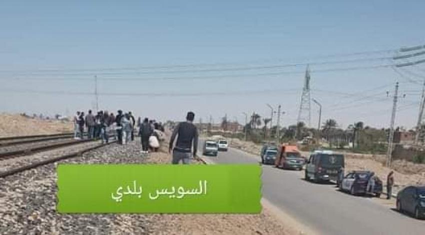 صورة اليوم..قطار السويس يدهس اربعيني ويحول جثمانه إلى اشلاء بمنطقة الجناين
