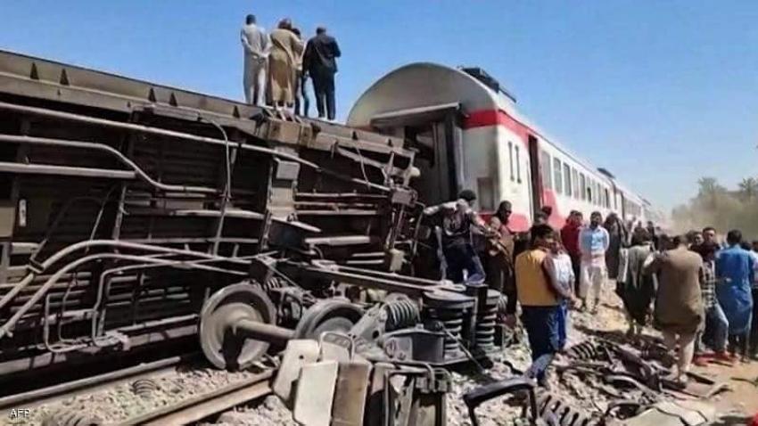 حادث انقلاب قطار في القليوبية اسفر عن مصرع واصابه عده اشخاص