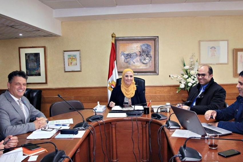 وزيرة التضامن الاجتماعي تلتقي وفد منظمة اليونيسيف لتعزيز خدماتها في قطاعي الحماية والرعاية للاطفال