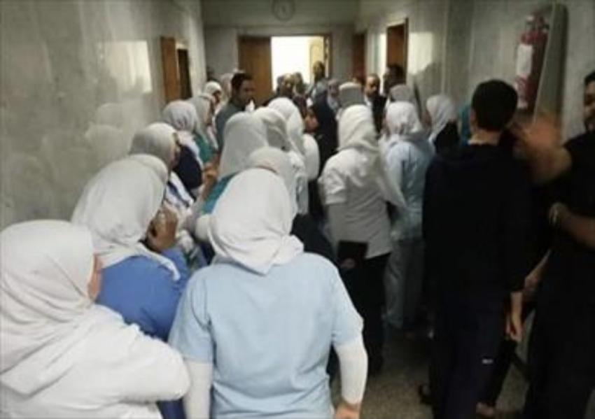 اتخاذ الإجراءات القانونية ضد مواطن تعدى علي مشرفة تمريض بمستشفى السويس العام .
