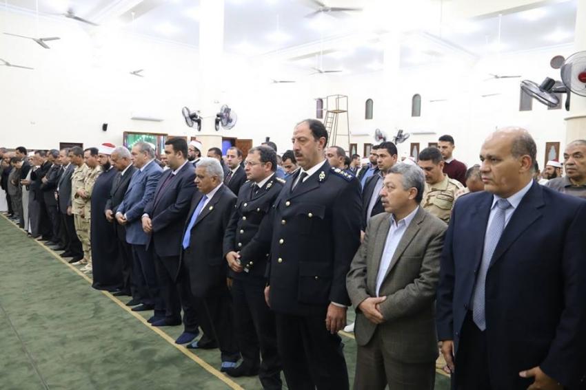 قيادات وأهالي السويس يفتتحون مسجد سعد بن ابي وقاص في الاحتفال بليلة النصف من شعبان