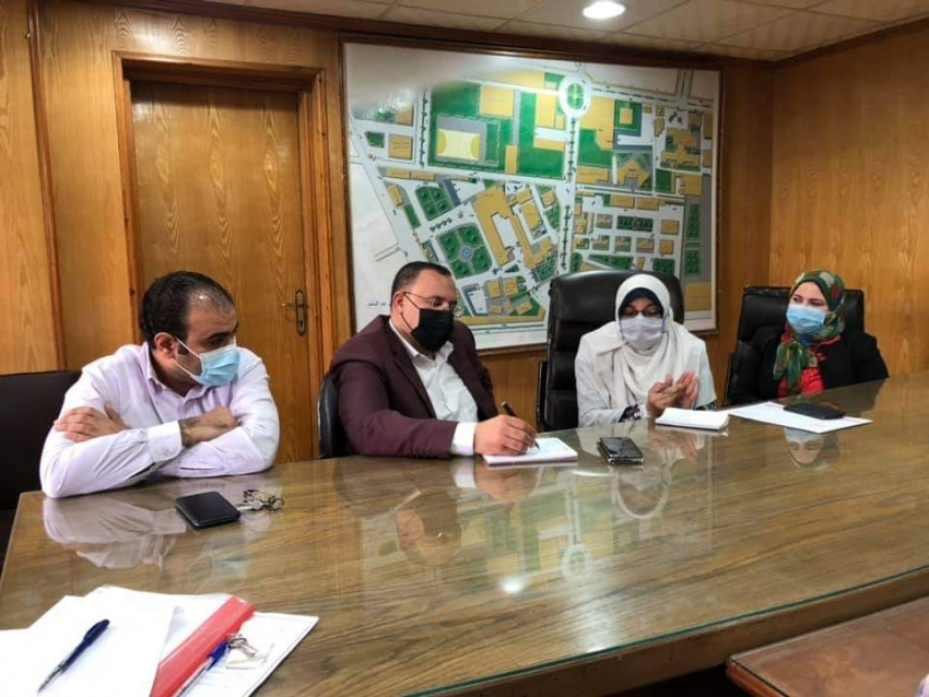 إجتماع فريق مبادرة دعم صحة المرأة المصرية مع قيادات وزارة الصحة