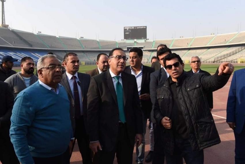 رئيس الوزراء يتفقد المنشآت الرياضية باستاد القاهرة استعداداً لاستقبال حفل افتتاح بطولة الأمم الأفريقية 2019