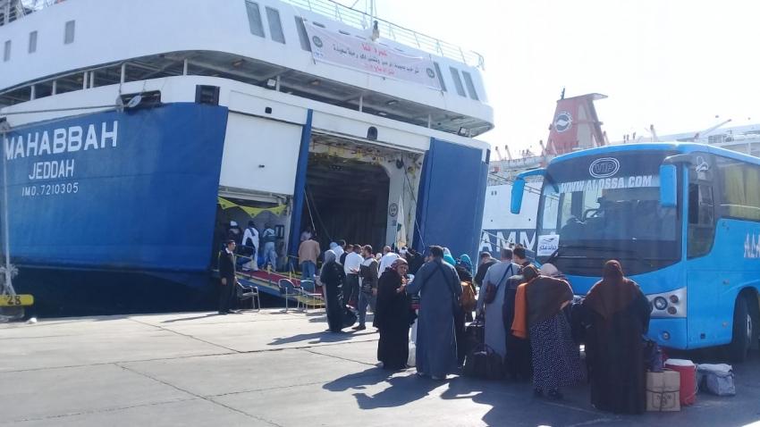 بالصور .. انطلاق اولى رحلات العمرة بميناء سفاجا