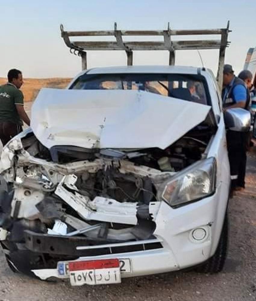 إصابة 6 مواطنين في حادث انقلاب سيارة ملاكي بطريق القاهرة - السويس