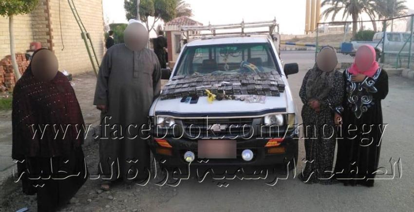 تجديد حبس 4 متهمين 15 يوما للمتهمين بتهريب  923 طربة حشيش و2 كيلو جرام أفيون قبل عبور نفق احمد حمدي