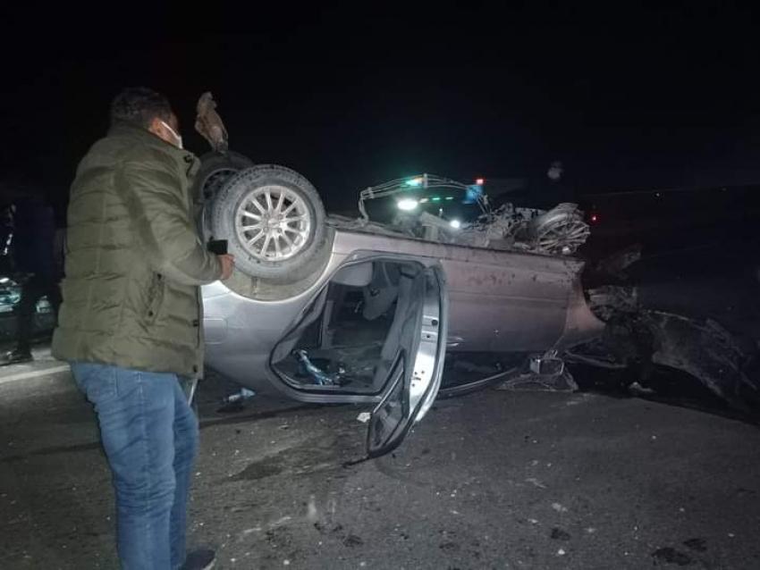 حادث مروع طريق مصر السويس قبل الكمين ١٠٩