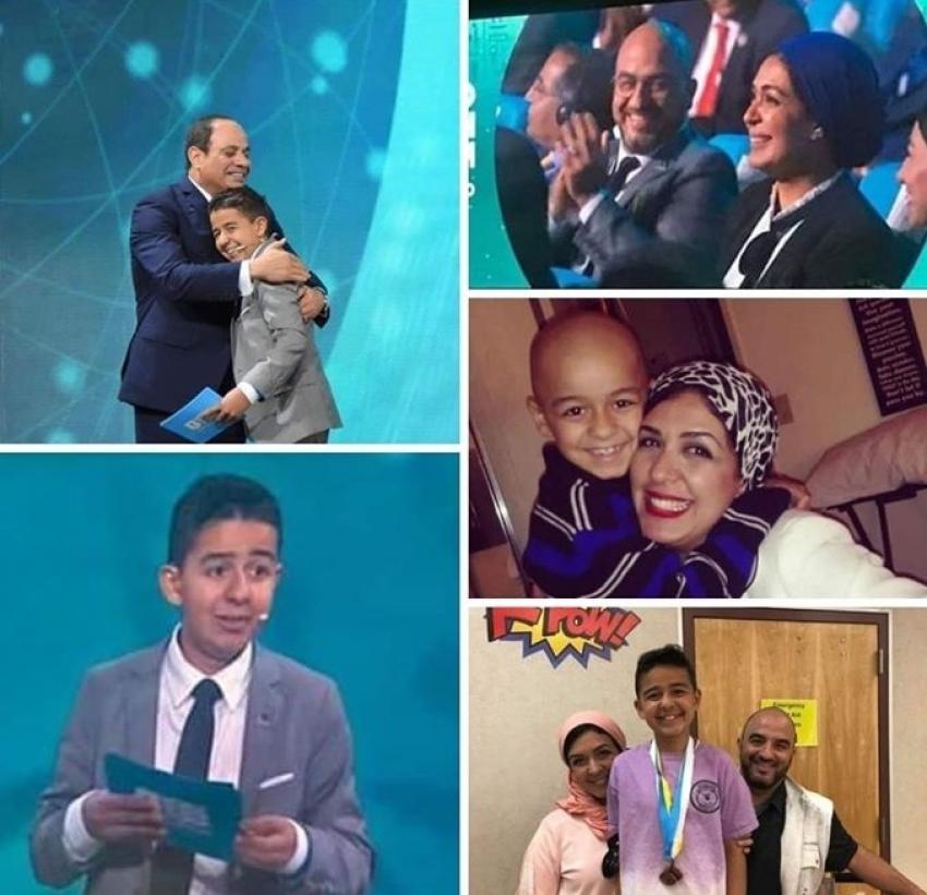 حكاية الطفل زين يوسف أصغر متحدث في منتدى شباب العالم بطل حارب السرطان