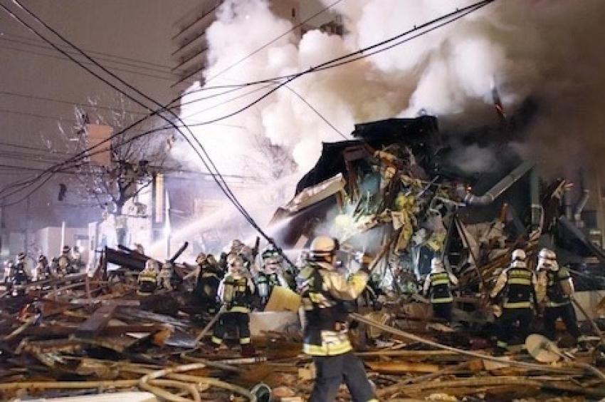 وسائل إعلام يابانية الانفجار القوى بمطعم شرق البلاد ربما يكون ناجما عن تسرب غاز