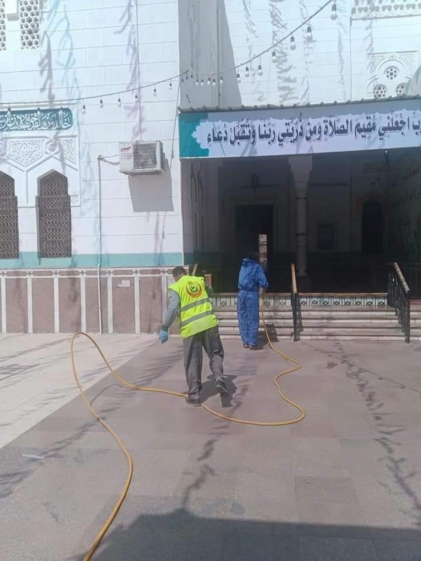 استمرار جهود تعقيم المساجد بمحافظة السويس تنفيذاً لتوجيهات الحفناوى.