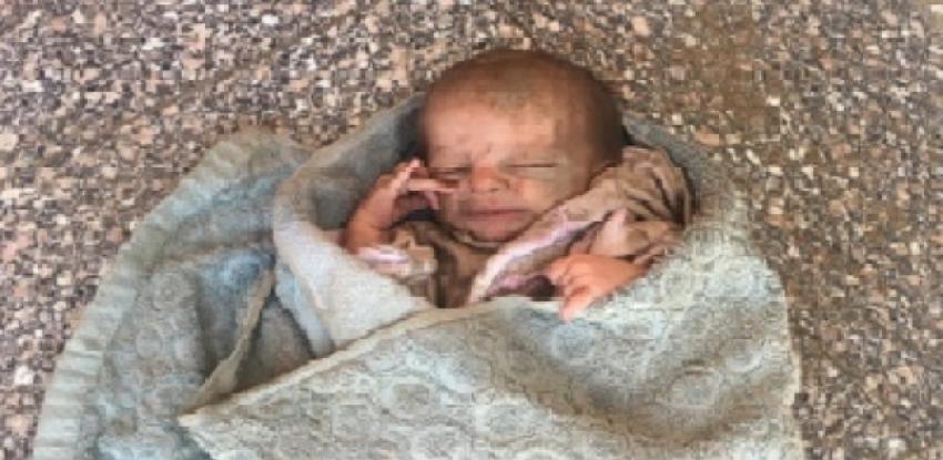 المقدم صالح مجدي ينقذ طفلا حديث الولادة من الدفن حيا بجوار مسجد ابراهيم نافع بالسلام