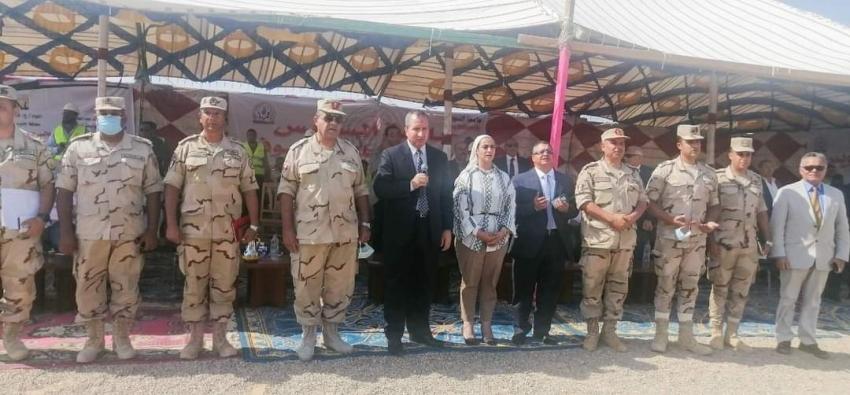 الشرقاوي يشهد بدء الأعمال في إنشاء جامعه السويس بجنوب سيناء .