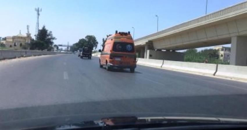 مصرع فتاة صدمتها سيارة أثناء عبورها طريق السويس الصحراوى