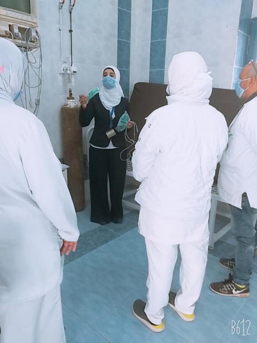 استمرار التثقيف الصحى للتمريض في برتوكول العلاج  لمرضي فيروس كورونا بمستشفيات السويس العام  والحميات والصدر